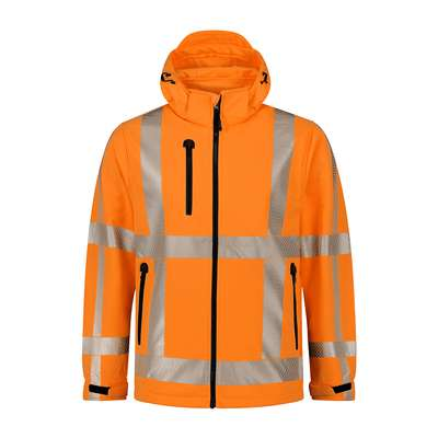 SANTINO Hooded Softshell Vigo HiVis-Line HiVis Regular Fit