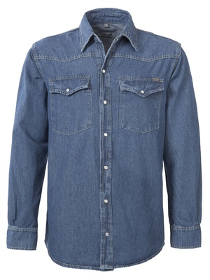 Brad Men A54 Blue Denim Shirt