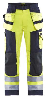 Blåkläder Multinorm Werkbroek 1579 High Vis Geel Marineblauw